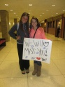 """This sweet girl missed school to surprise me at the airport the morning I left! I legitimately had NO idea. She did so much for me and made me feel so loved while preparing for my trip to Uganda- including making bracelets for everyone I knew to wear while I was gone that said """"Pray for Paige"""" on them and organizing a TON of people from our youth group & my friends from school to meet me at the airport to pick me up the day I got back, with signs and everything!! Literally the sweetest thing. I will never forget how loved and missed she made me feel :) love you sweet Katie!"""