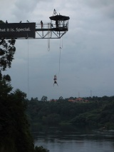 bungee jumping over the Nile River