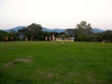 soccer/ ultimate frisbee games are a must on this open field on top of the mountain