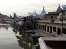 one of the world's largest Hindu temples.. they burn up to 70 bodies a day here and drop the ashes into this river which they believe caries them to their next stage of reincarnation. The smell is unbearable. It's a place a darkness, hopelessness, and fear.